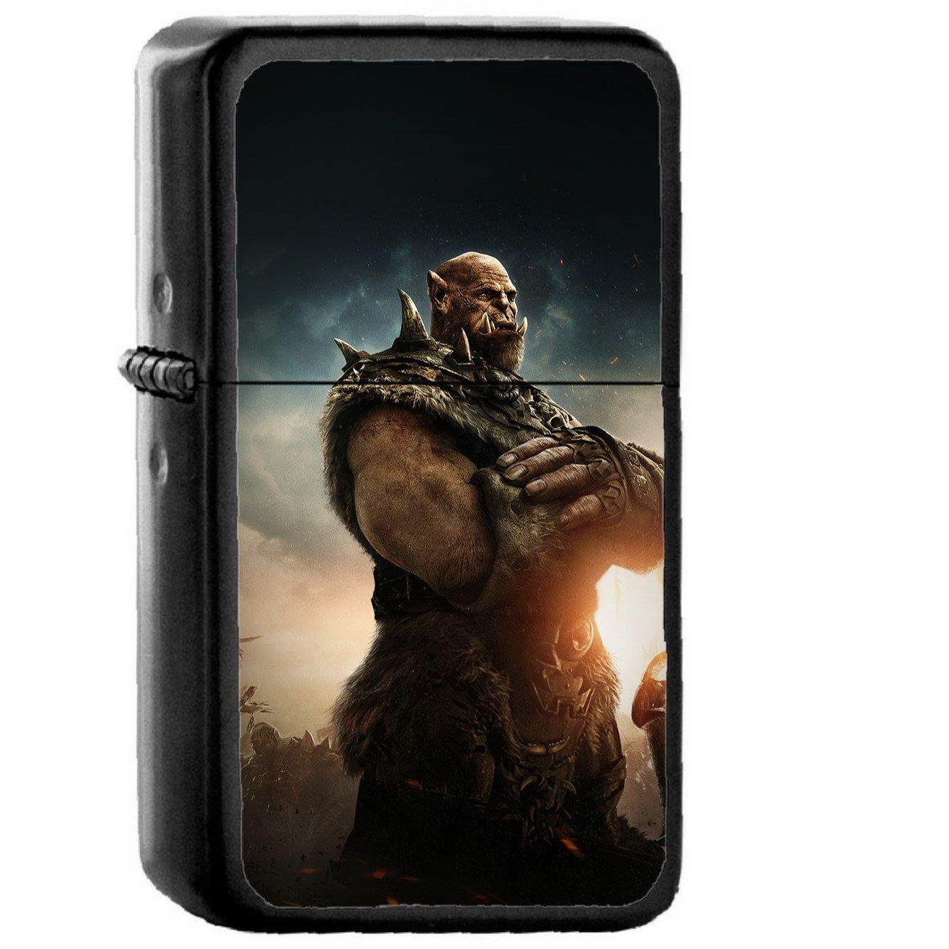 Warcraft Beginning Art Poster Game Hero - Oil Windproof Black Lighters Briquet Encendedor