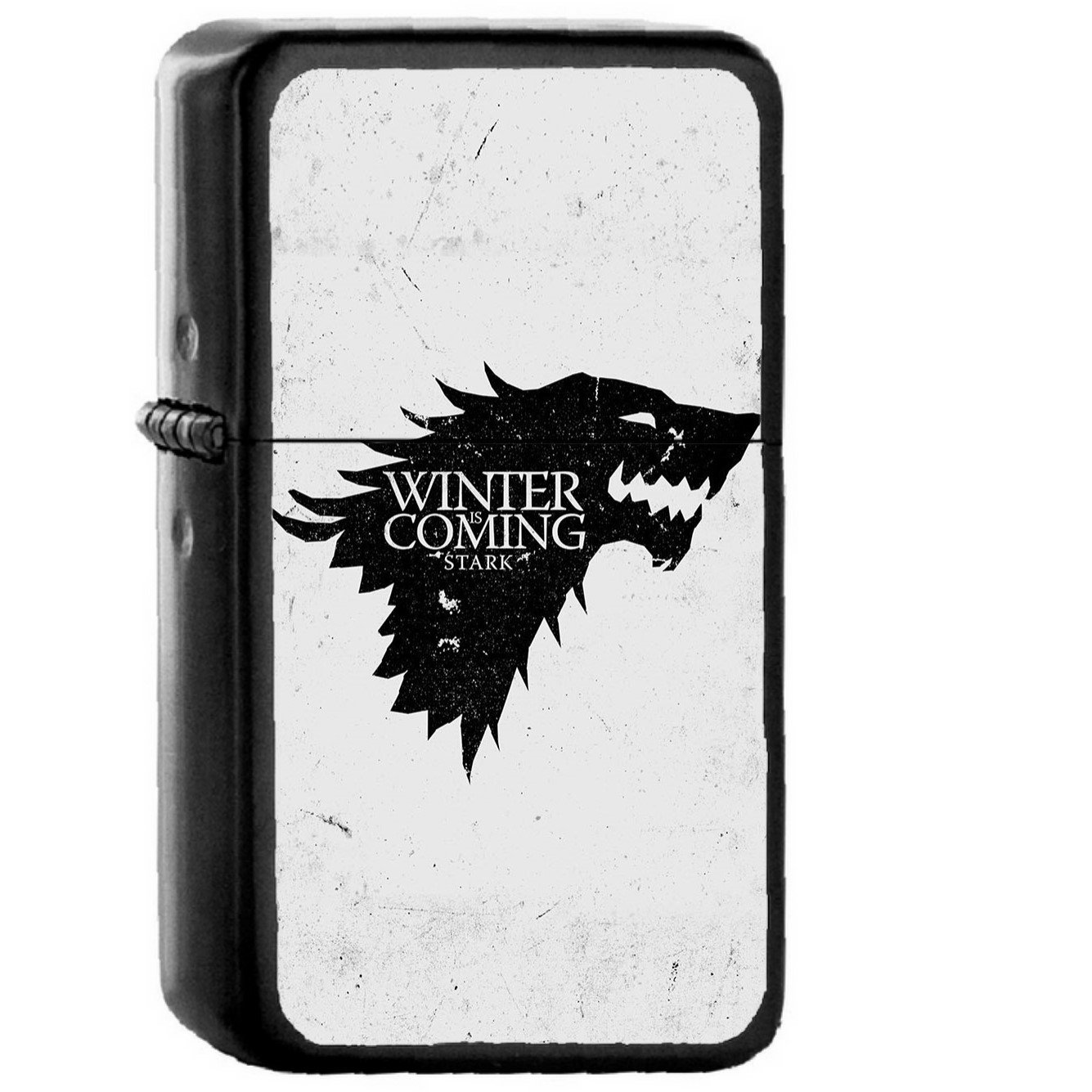 Game Of Thrones Winter Is Coming White - Oil Windproof Black Lighters Briquet Encendedor