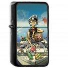 Gorillaz Boat Illust Music - Oil Windproof Black Lighters