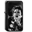 Michael Jackson Sing Music Face - Oil Windproof Black Lighters