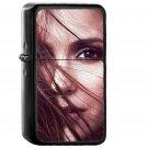 Nina Dobrev Face Film Star - Oil Windproof Black Lighters
