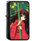 Anime Girl Japan Art Cute - Oil Windproof Black Lighters Briquet Encendedor