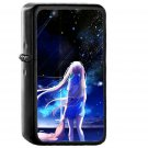 Anime Night Space Star Art Illustration - Oil Windproof Black Lighters Briquet Encendedor