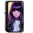 Ilya Juvshinov Girl Purple Illust Face Art - Oil Windproof Black Lighters