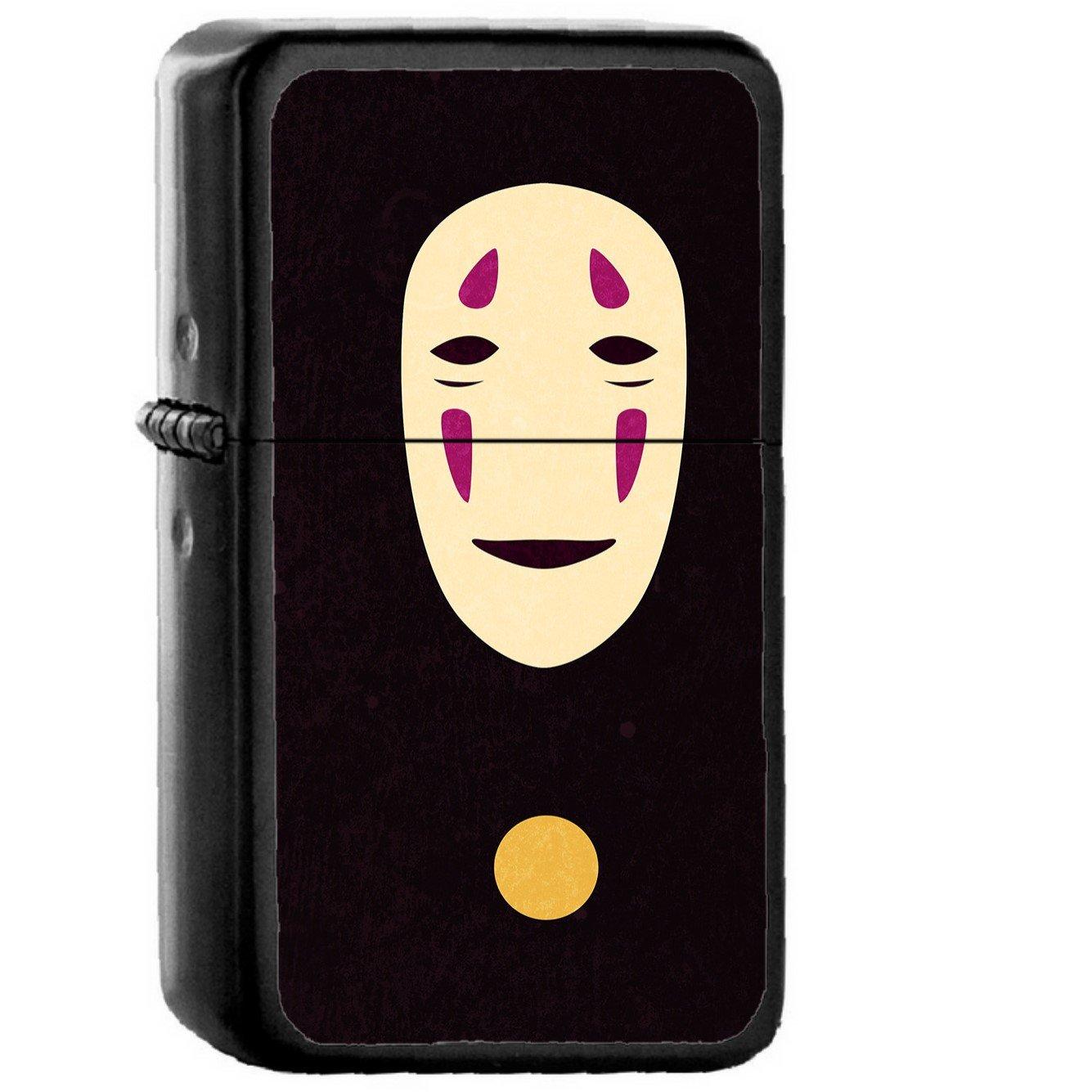 Spirited Away Dark Ghost Anime - Oil Windproof Black Lighters Briquet Encendedor
