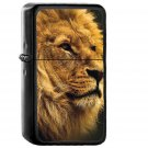 National Geographic Nature Animal Lion Yellow - Oil Windproof Black Lighters