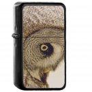Owl Eye Animal Nature - Oil Windproof Black Lighters