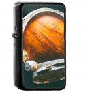Space Digital Mars Illustration Art - Oil Windproof Black Lighters