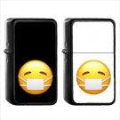 47 Face Medical Mask - (1pcs) Oil Windproof Black Emoji Emoticon Lighters