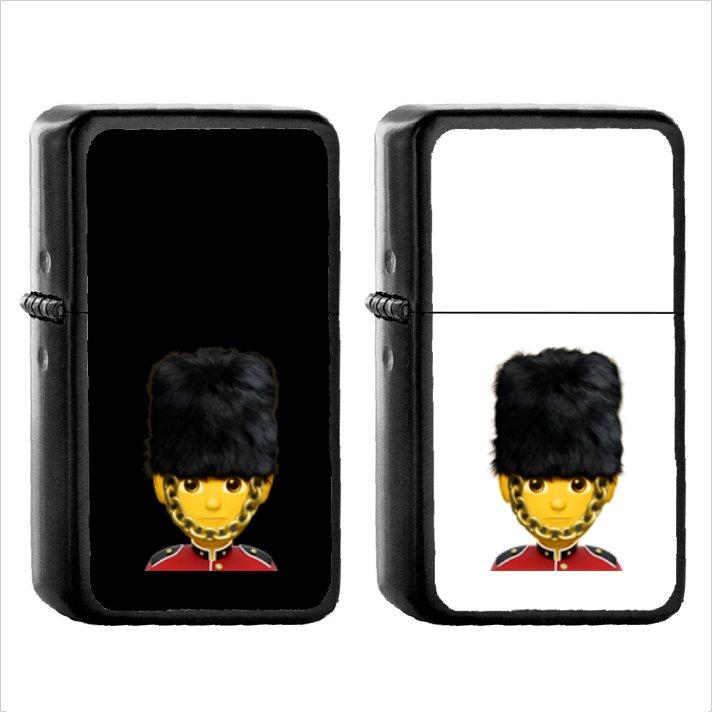 244 Male Guard - (1pcs) Oil Windproof Black Emoji Emoticon Lighters