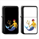 278 Merperson - (1pcs) Oil Windproof Black Emoji Emoticon Lighters