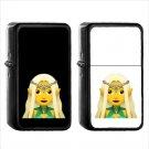 283 Woman Elf - (1pcs) Oil Windproof Black Emoji Emoticon Lighters