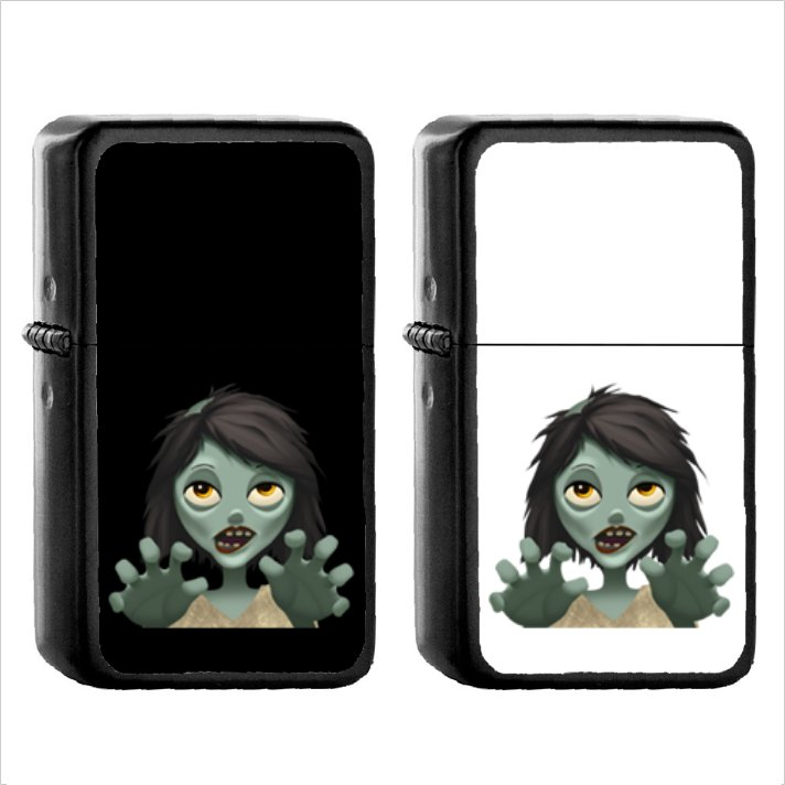 289 Woman Zombie - (1pcs) Oil Windproof Black Emoji Emoticon Lighters