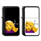293 Haircut - (1pcs) Oil Windproof Black Emoji Emoticon Lighters