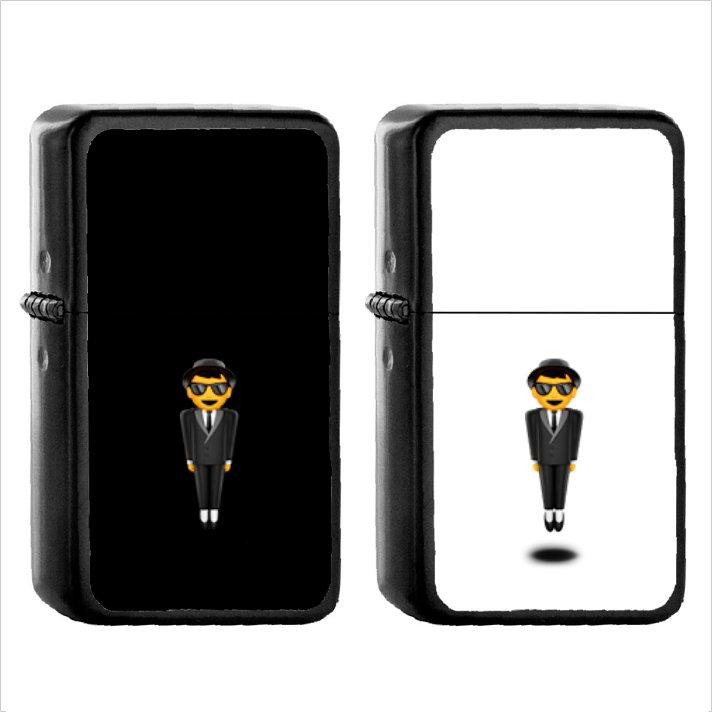 304 Man In Business Suit Levitating - (1pcs) Oil Windproof Black Emoji Emoticon Lighters