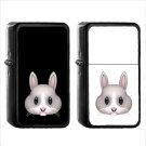 440 Rabbit Face - (1pcs) Oil Windproof Black Emoji Emoticon Lighters
