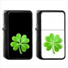 514 Four Leaf Clover - (1pcs) Oil Windproof Black Emoji Emoticon Lighters
