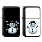 563 Snowman - (1pcs) Oil Windproof Black Emoji Emoticon Lighters