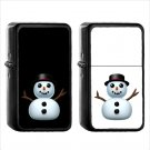 564 Snowman Out Snow - (1pcs) Oil Windproof Black Emoji Emoticon Lighters