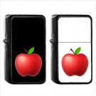 581 Red Apple - (1pcs) Oil Windproof Black Emoji Emoticon Lighters