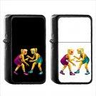 712 Wrestlers - (1pcs) Oil Windproof Black Emoji Emoticon Lighters