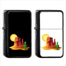 793 Desert - (1pcs) Oil Windproof Black Emoji Emoticon Lighters