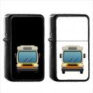 850 Oncoming Bus - (1pcs) Oil Windproof Black Emoji Emoticon Lighters
