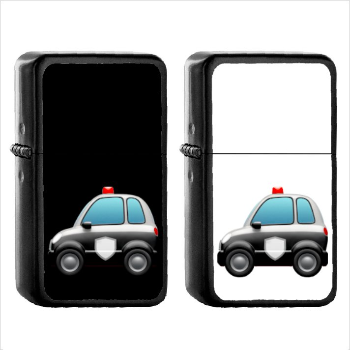 855 Police Car - (1pcs) Oil Windproof Black Emoji Emoticon Lighters