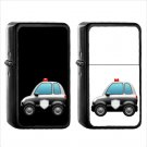 855 Police Car - (1pcs) Oil Windproof Black Emoji Emoticon Lighters
