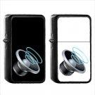 1171 Speaker Three Sound Waves - (1pcs) Oil Windproof Black Emoji Emoticon Lighters