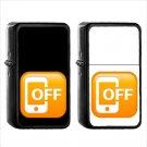 1264 Mobile Phone Off - (1pcs) Oil Windproof Black Emoji Emoticon Lighters