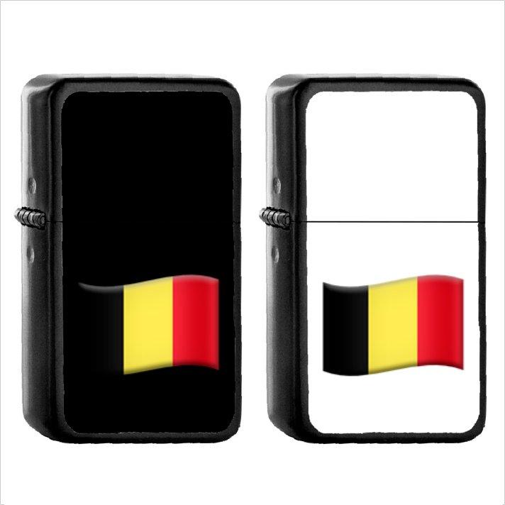1394 Flag For Belgium - (1pcs) Oil Windproof Black Emoji Emoticon Lighters