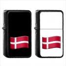 1435 Flag For Denmark - (1pcs) Oil Windproof Black Emoji Emoticon Lighters