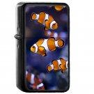 Nemo Clownfish - Oil Windproof Flip Top Black Lighters Briquet Encendedor