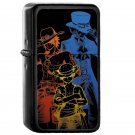 One Piece Brothers Colored Lineart - Oil Windproof Flip Top Black Lighters Briquet Encendedor