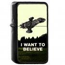 0 I Want To Believe - Oil Windproof Flip Top Black Lighters Briquet Encendedor