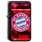 Fc Bayern Munich - Oil Windproof Flip Top Black Lighters Briquet Encendedor E2