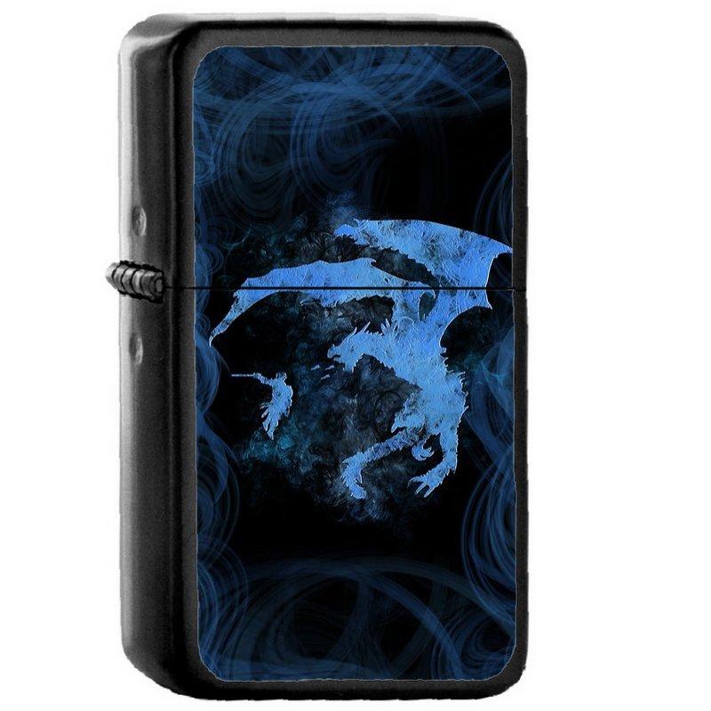 Dragonfight Cooltexture Inverted - Oil Windproof Flip Top Black Lighters Briquet Encendedor EE