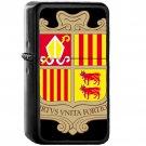 Coat of arms of Andorra - Oil Windproof Black Lighters Briquet Encendedor