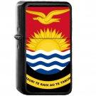 Coat of arms of Kiribati - Oil Windproof Black Lighters Briquet Encendedor