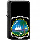 Coat of arms of Liberia - Oil Windproof Black Lighters Briquet Encendedor