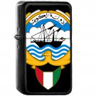Emblem of Kuwait - Oil Windproof Black Lighters Briquet Encendedor