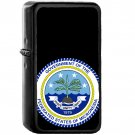 Seal of the Federated States of Micronesia - Oil Windproof Black Lighters Briquet Encendedor