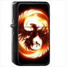 Fantasy Phoenix Fantasy Animals Oil Windproof Black Lighter Briquet Encendedor L1222