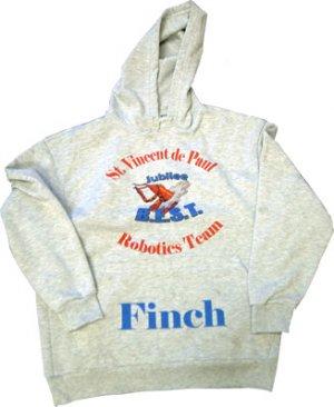 Hoodie Sweatshirt/ heather grey - large