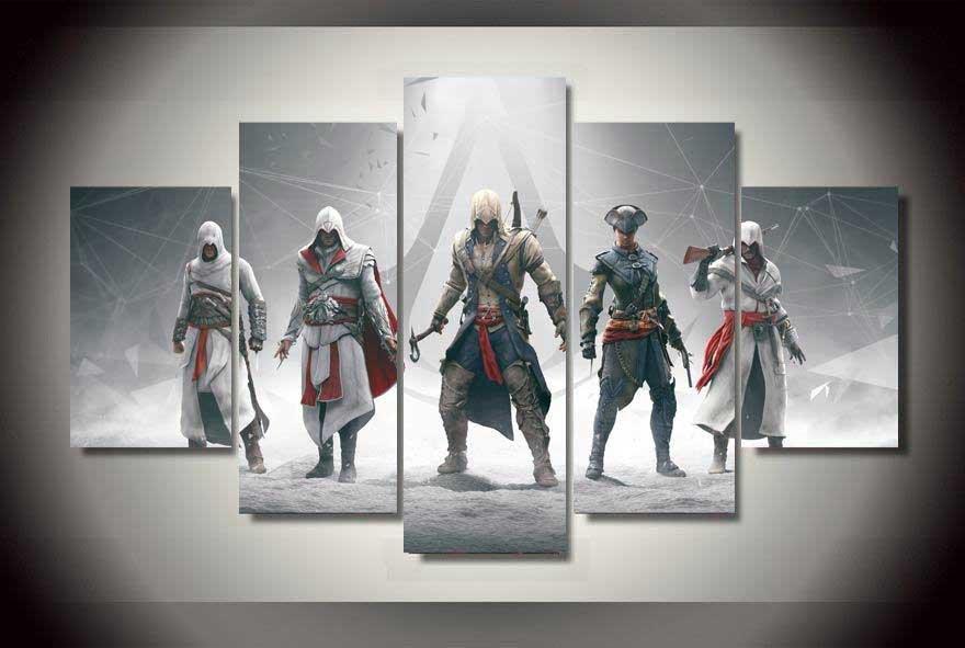Assassin's Creed #01 5 pcs Unframed Canvas Print - Medium Size