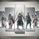 Assassin's Creed #01 5 pcs Unframed Canvas Print - Large Size