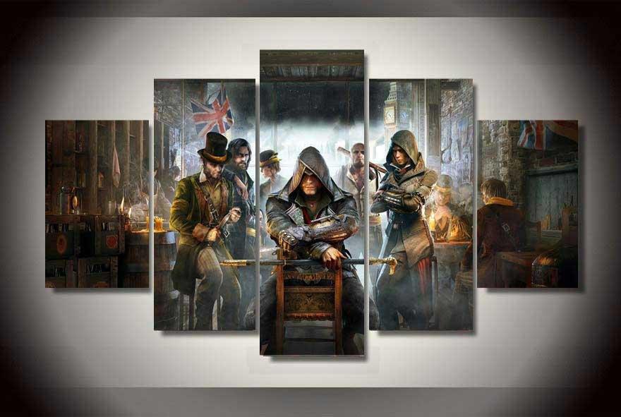 Assassin's Creed Syndicate #02 5 pcs Unframed Canvas Print - Medium Size