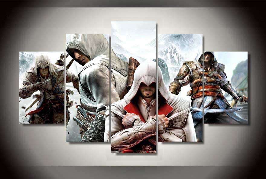 Assassin's Creed #07 5 pcs Unframed Canvas Print - Large Size