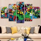 Marvel Avengers Superhero Comics #02 5 pcs Unframed Canvas Print - Small Size